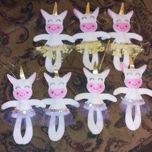 Christmas Ornaments Unicorn(LOT of 7)